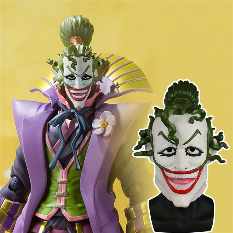 Batman Ninja Devil Joker Mask Cosplay Scary Joker Latex Helmet Prop Halloween Party