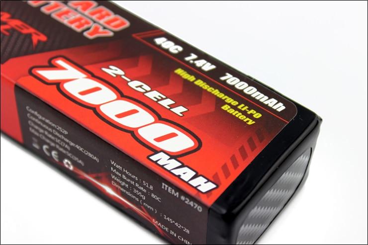 2 pcs LEOPARDO Lipo 40C 2 s 7000 mah Bateria Lipo 7.4 v Bateria para 1/10 de Carro RC 1/8 carro para Traxxas BARRA E REVO TR 4 FLUXO NERO - 4