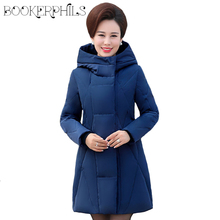 купить White Duck Down Jacket Winter Women Coat Hooded Autumn Warm Plus Size Thick High Quality Long Down Parka Female Outerwear 6XL по цене 3474.75 рублей