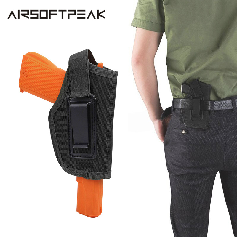 Belt Gun Holster Inside Nylon Concealed Waistband IWB Carry Pistol Mental Clip Fit GLOCK 17 19 22 23 32 33 Ruger Handgun Durable image