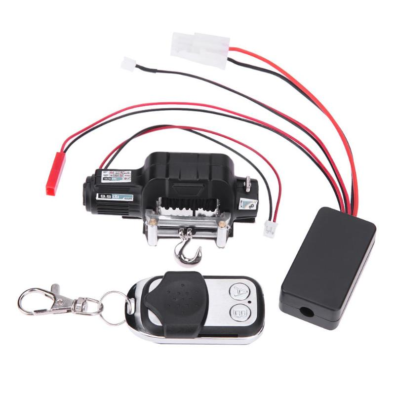 RC Crawler Car Winch Wireless+Remote Control Receiver for 1:10 Traxxas Hsp Easy Carry Suit for Axial SCX10 D90 Install Parts rc car mini simulated winch with remote controller for 1 8 traxxas hsp redcat rc4wd tamiya axial scx10 d90 hpi rc rock crawler