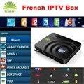 Android CAIXA de IPTV DVB-S2 Receptor de Satélite Decodificador Com Neotv QHDTV Bélgica França Europa IPTV Smart Box Suporte CCcam NEWcam