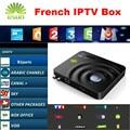 Android IPTV CAJA DVB-S2 receptor de Satélite Decodificador Con Neotv QHDTV Europa Bélgica Francés Caja IPTV Inteligente Soporte CCcam NEWcam