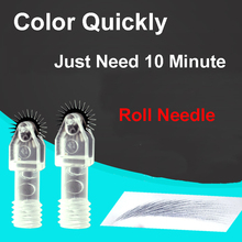 Roller Needle Microblading Fog Eyebrow Permanent Makeup 3D Embroidery for Tattoo Manual Pen