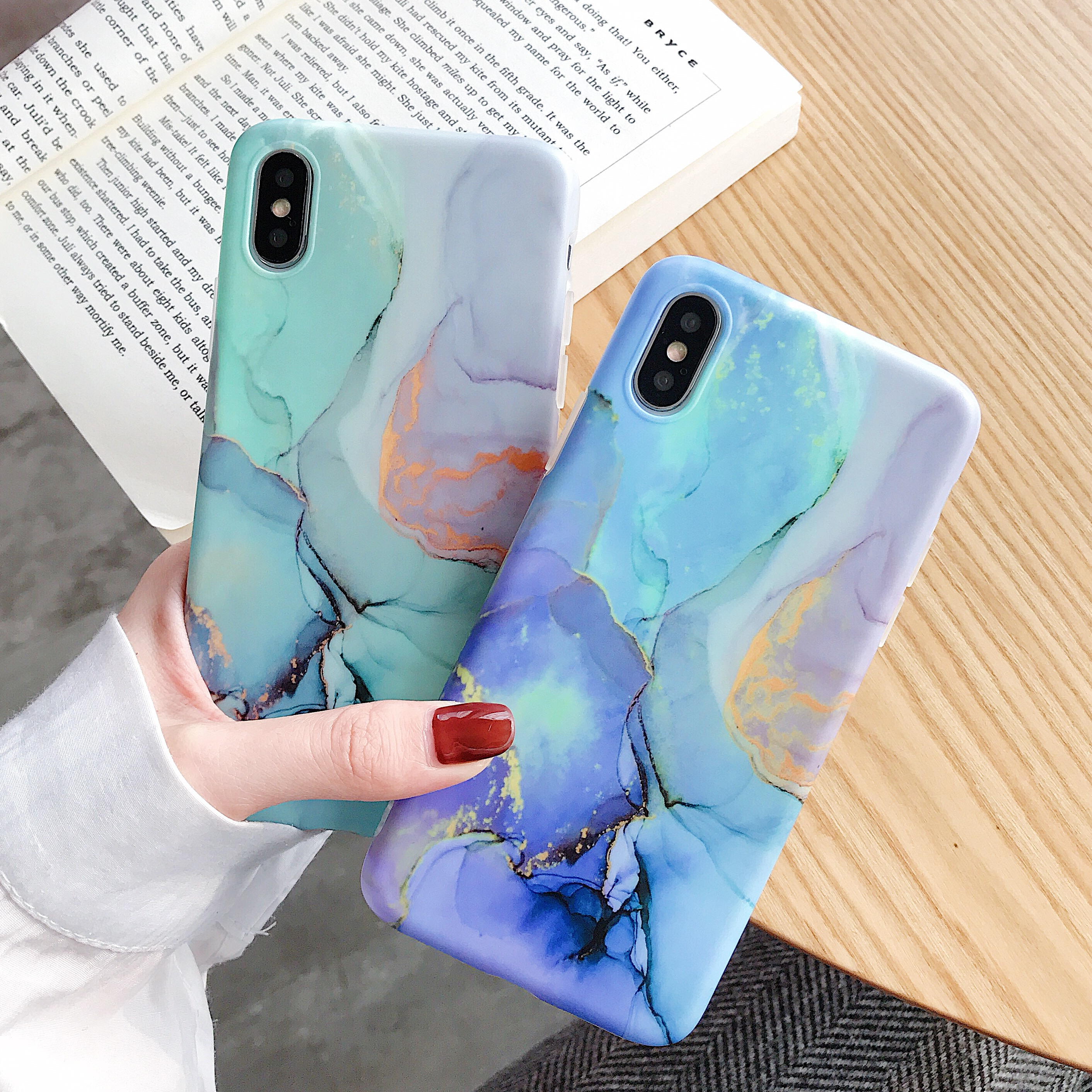 Dream color Case For Coque iphone XS Max X XR 7 8 Case Soft TPU Back