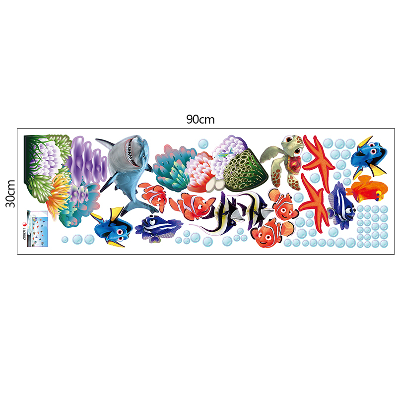 HTB1qIKOOVXXXXa8XpXXq6xXFXXX3 - Wonderful Sea world colorful fish animals vinyl wall art window bathroom decor decoration wall stickers for nursery kids rooms