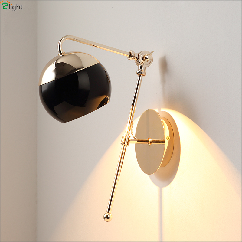 Modern Rotatable Led Wall Lamp Lustre Gold Metal Bedroom Led Wall Light Living Room Led Wall Lights Foyer Wall Sconce Fixtures wall light living sitting room foyer bedroom bathroom modern wall sconce light square led wall lamp bedroom 3 lights wall sconce