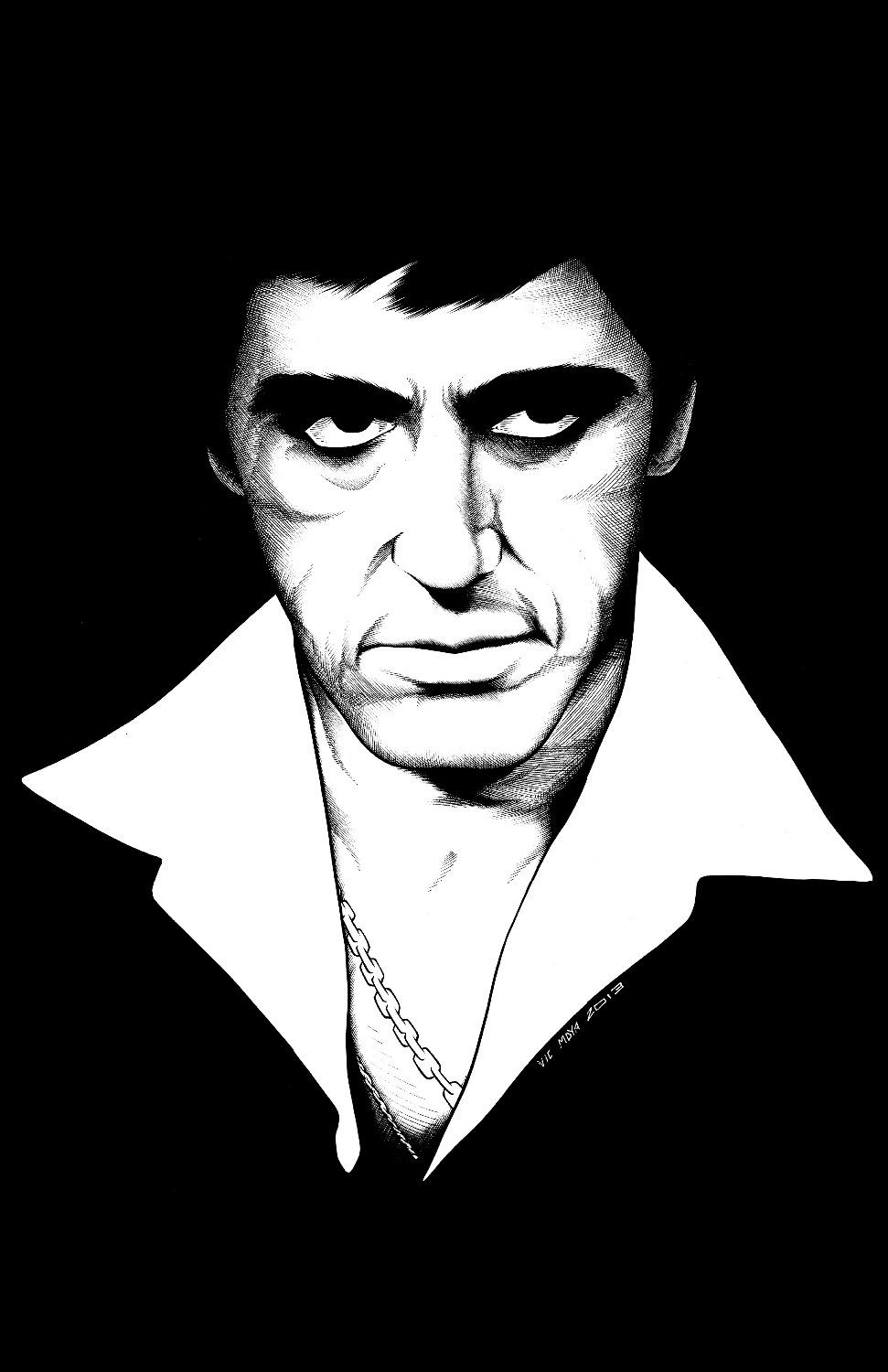 Scarface money power respect vinyl wall decal for home decore - L 82 Custom Scarface Poster Home Decor Modern For Bedroom Wall Poster Size 40x60cm Wall