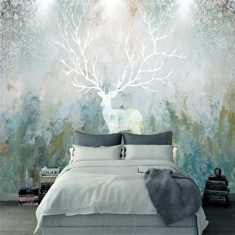 3 d Photo Wallpaper Custom Wall Picture Desktop Wallpaper 3d Embossed Forest Wallpapers Living Room Bedroom Elk Mural Home Decor shinehome sunflower bloom retro wallpaper for 3d rooms walls wallpapers for 3 d living room home wall paper murals mural roll
