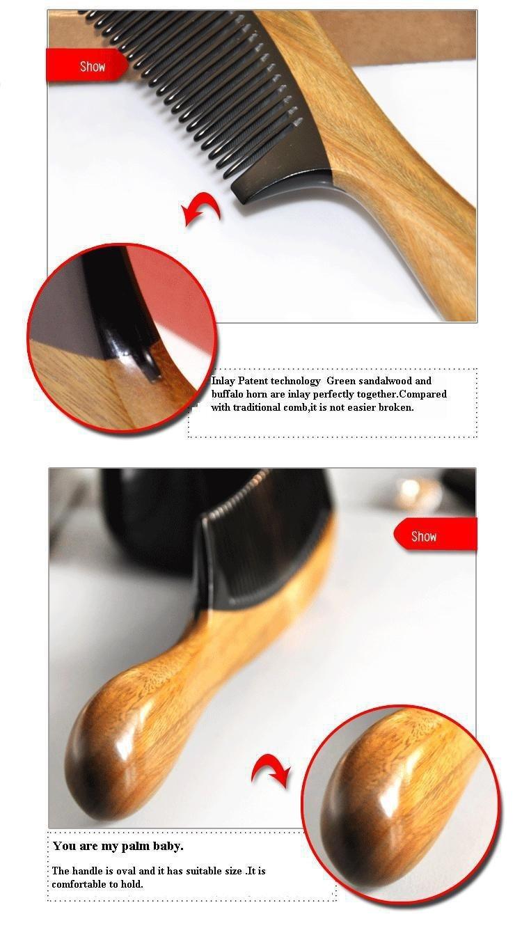 pente anti-estático anti-perda de cabelo 18.2 cm
