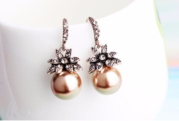 Luxury Pearl Drop Earrings Fine Jewelry Accessory