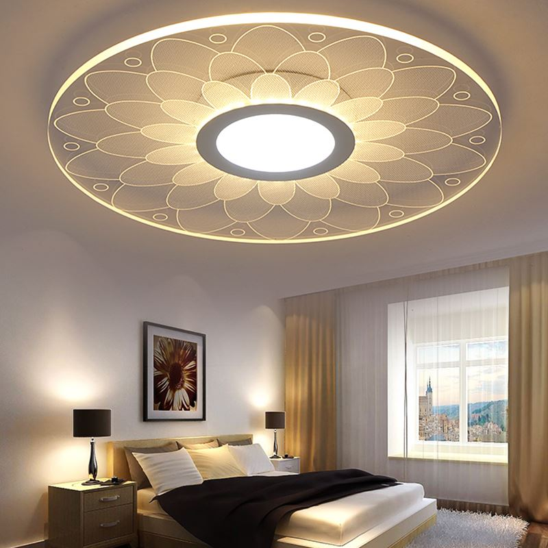 Modern ceiling led flower ceiling lights beautiful living room bedroom superior hotel home for Ceiling lights for living room philippines