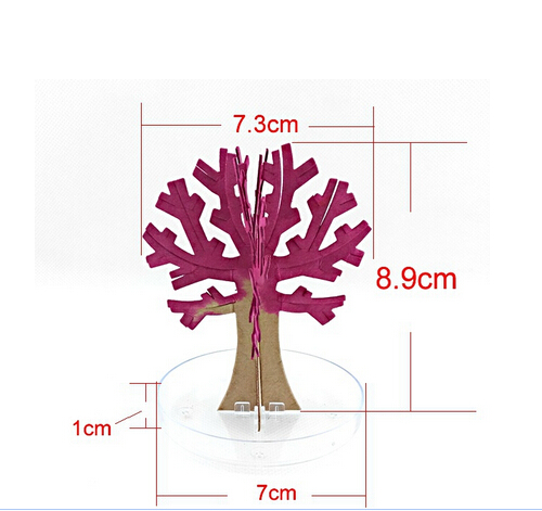 2019 10PCS 10x8cm Artificial Magically Grow Paper Sakura Trees Magic Growing Tree Japan Desktop Cherry Blossom Toys For Children in Gags Practical Jokes from Toys Hobbies
