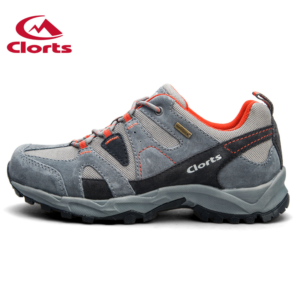 2016 Clorts Men Hiking Shoes Low Cut Cow Suede Outdoor Sport Shoes Breathable Non-slip Trekking Sneakers for Men HKL-828 2016 clorts men outdoor shoes nubuck hiking shoes breathable suede trekking shoes athletic sneakers for men hkl 826