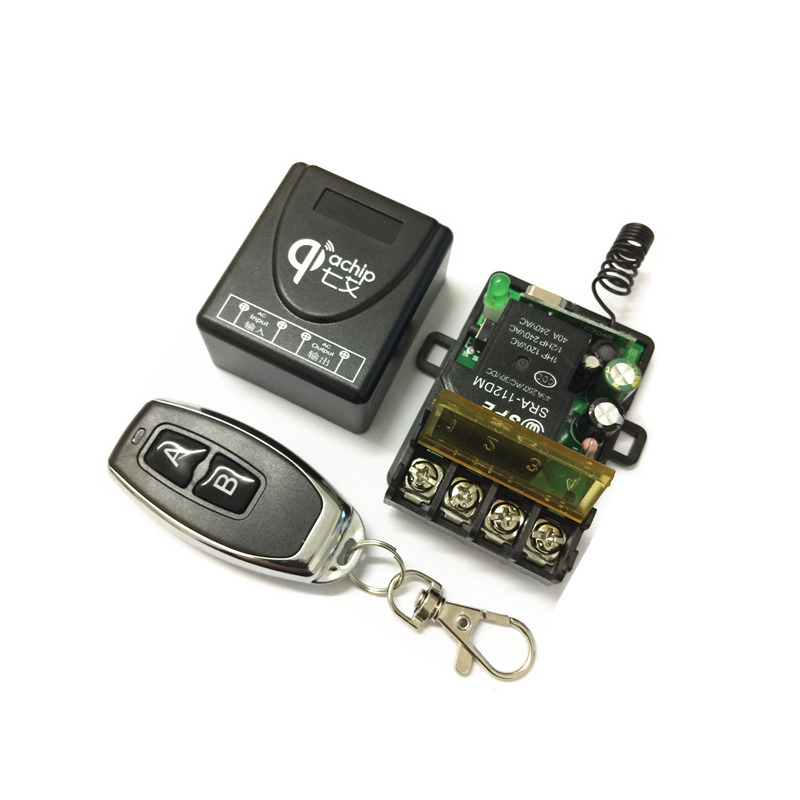 433Mhz Universal Wireless RF Remote Control Switch AC 220V 1CH 30A Relay Receiver and 2 channel 433 Mhz Remote For Water pump dc24v remote control switch system1receiver