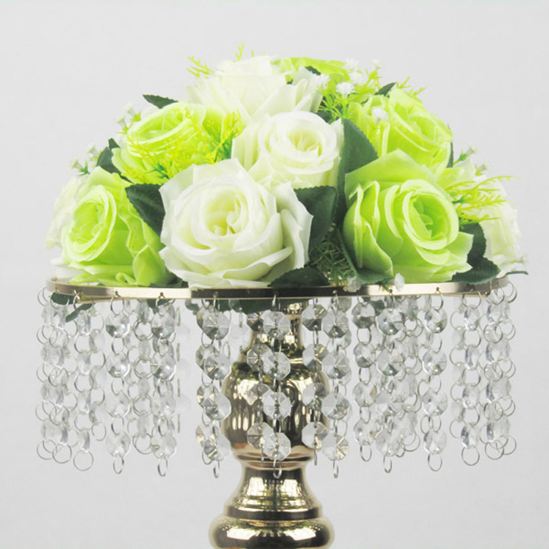 Aliexpress Gold Tabletop Vase Metal Flower 50cm Table Centerpiece For Mariage Flowers Holder Wedding Decoration 10pcs Lot From