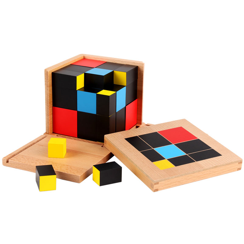 Montessori Wooden Toys Montessori Trinomial Cube Math Learning Educational Toys for Toddlers Juguetes Brinquedos MG1864H