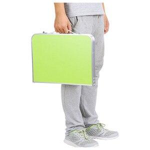 Image 5 - Gấp gọn Bàn Máy Tính Đa Năng Ánh Sáng Để Bàn Gấp Gọn Ký Túc Xá Giường Xách Tay Nhỏ Để Bàn Dã Ngoại Bàn Laptop có hai Khay