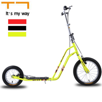 T7 16 Inch Rubber Tyre inflatable wheel City Scooter Safe with Brake