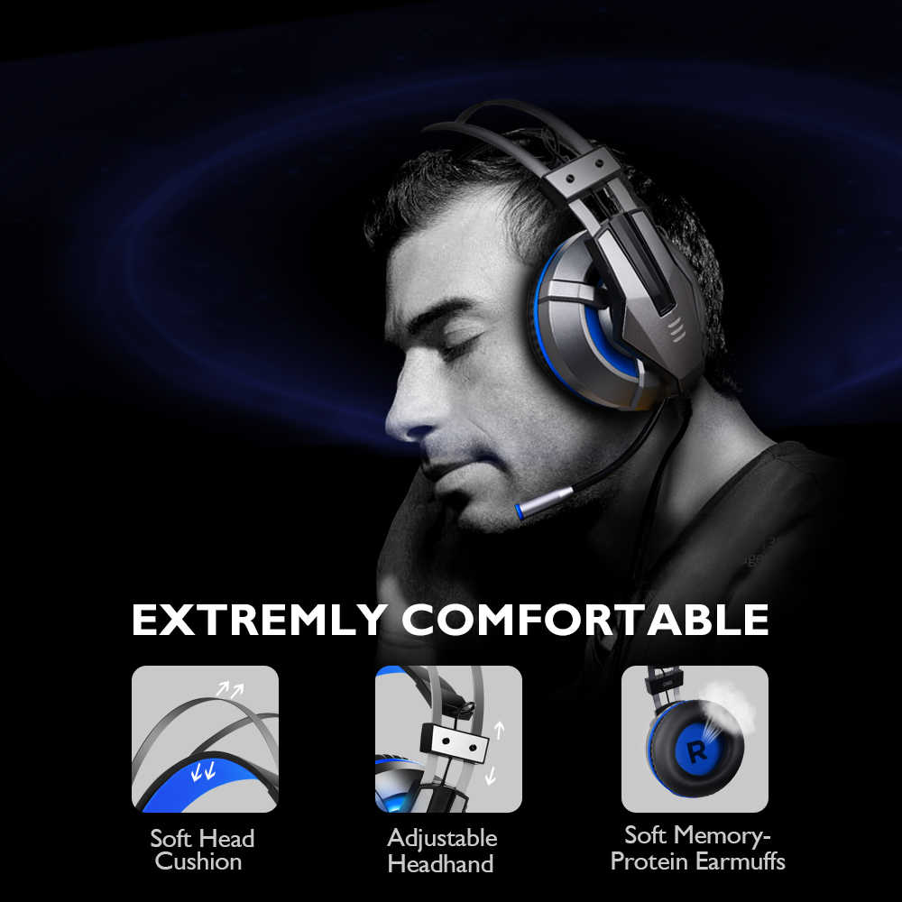 EKSA Gaming Headset for PS4, PC, Xbox One Controller, Noise