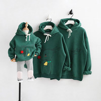 2018 Christmas Family Look Deer Mommy and Me Clothes Matching Family Clothing Sets Mother Daughter Father Baby hoodies CC514