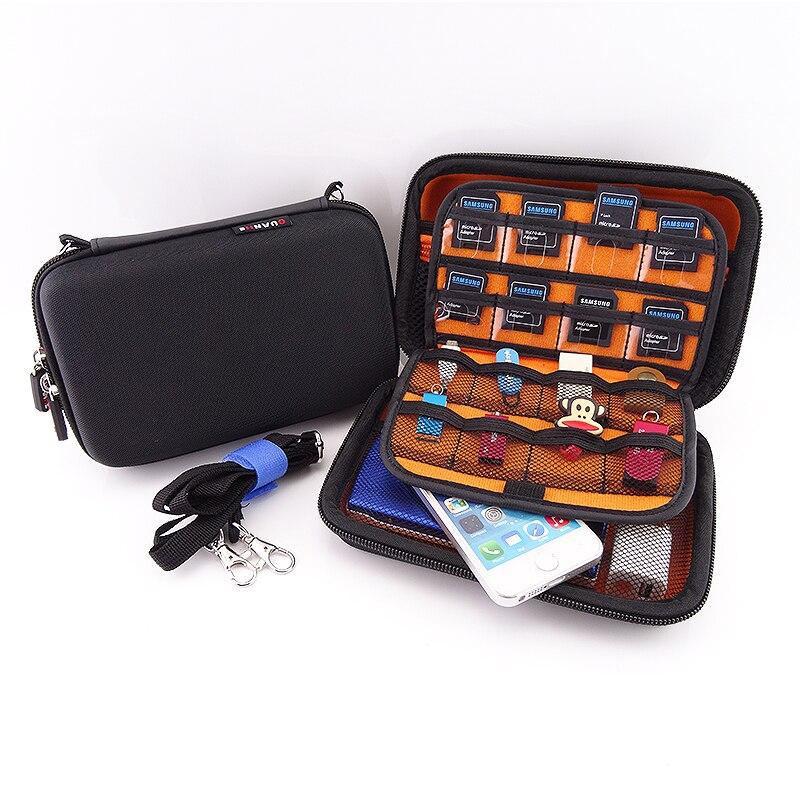 2.5 pulgadas caja de disco duro externo con cremallera de nylon durable duro car