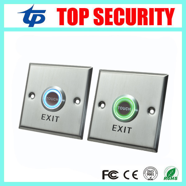 Free Shipping Stainless Steel Exit Button Touch Exit Switch Door Release Push Exit Door Button For Access Control System lpsecurity stainless steel door access control led backlit led illuminated push button door lock release exit button switch