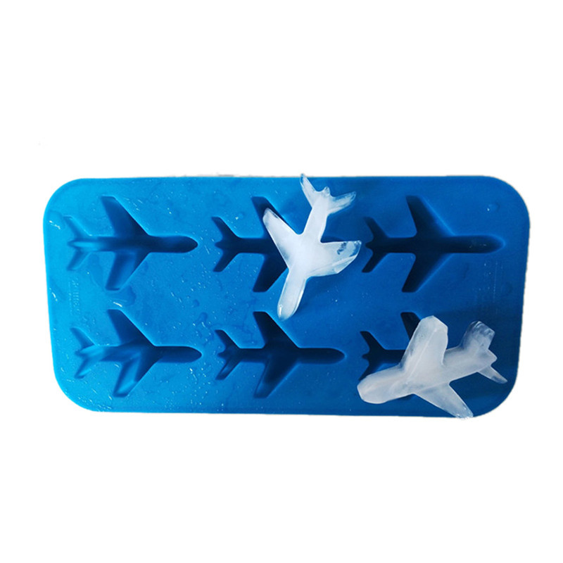 Silicone 3d Airplane Shape Ice Cube Ball Mold Ice Cream Maker Fondant Chocolate Mold For Cakes Decorating