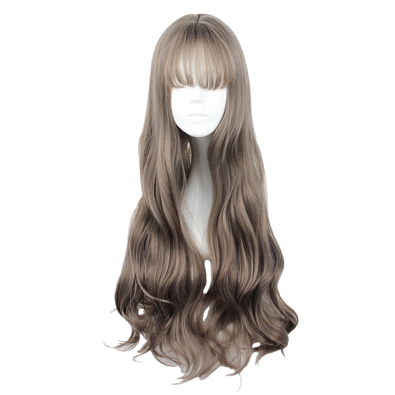 MCOSER 70CM Japan And South Korea Synthetic Hair Air Bang Mix Color Harajuku Cosplay Wig 100% High Temperature Fiber