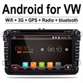 2 Din 8 inch Quad core Android vw car dvd for Polo Jetta Tiguan passat b6 cc mirror link wifi Radio CD in dash