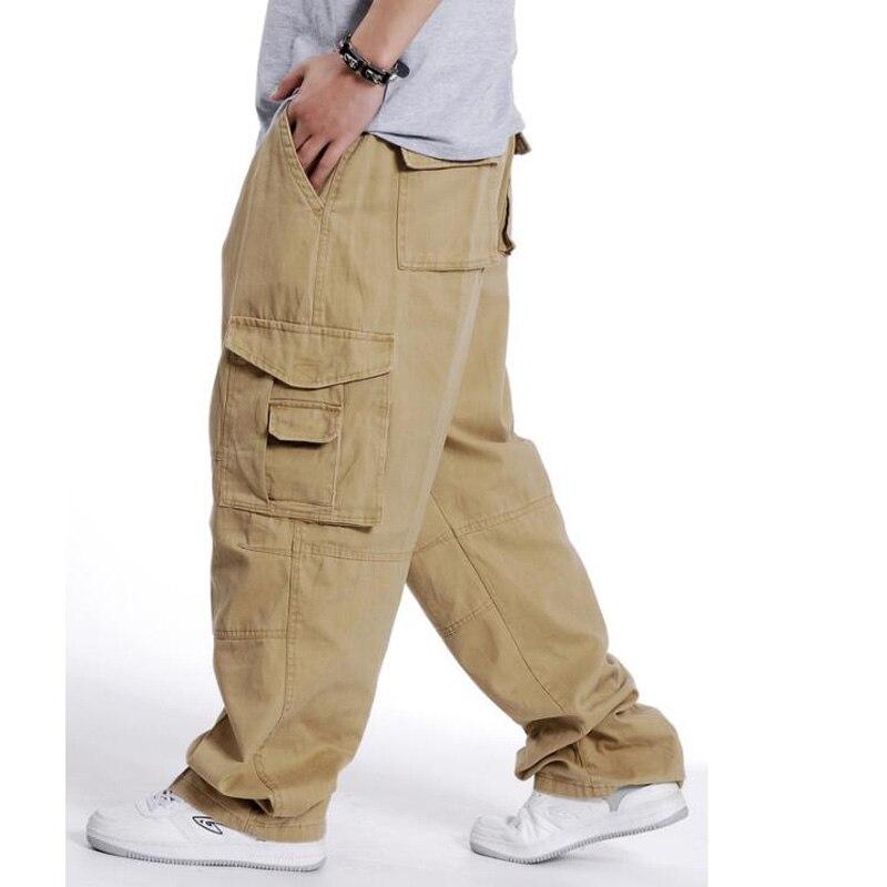 Hommes Pantalon Hip Hop Dance Hommes Pantalon Pantalon Joggeurs Occasionnels Lâches Cargo Pantalon Large Jambe Mâle Vêtements