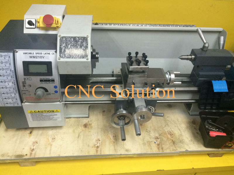 850W Mini Metal Lathe 220V Variable Speed Mini Lathe Machine for Metalworking Stainless Steel Processing Full CE Certificated