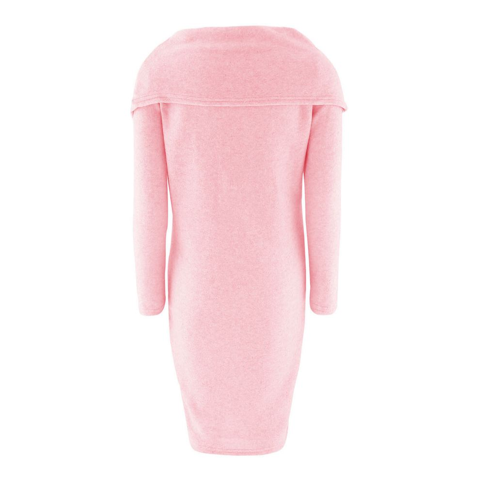 TFGS Women s New Autumn Solid Dress Casual Warm Fashion Clothing Wear Long Sleeve Loose Scarf
