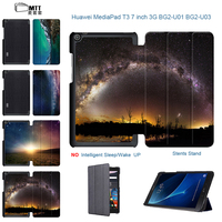Universe Aurora Flip Stand PU Leather Case For Huawei Mediapad T3 7 3G Ultra Thin Tablet