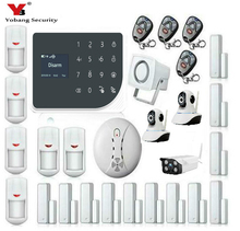 YoBang Security Wireless WIFI GSM Alarm System GPRS Touch Keyboard Indoor Outdoor Video IP Camera Smoke