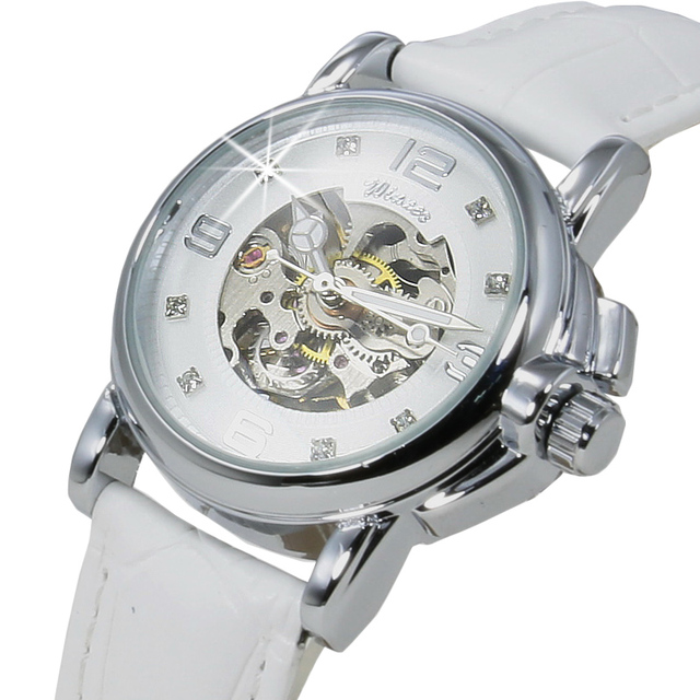 Часы Для женщин Лидирующий бренд Роскошные модные Повседневное Механические Прозрачные часы леди Relojes Mujer Для женщин наручные часы платье для девочек часы