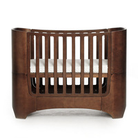 2019 Multifunctional baby growth bed high grade original solid wood art crib fashion curved wood K9