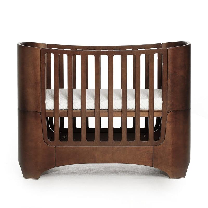 2019 lit de croissance multifonctionnel bébé haute qualité original en bois massif art berceau mode courbé bois K9
