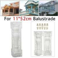 2Pcs 55cm Paving Mold Fence Mold Garden Roman Column Concrete Mould Balcony Stair Cement Railing Plastic Mold Building Tool