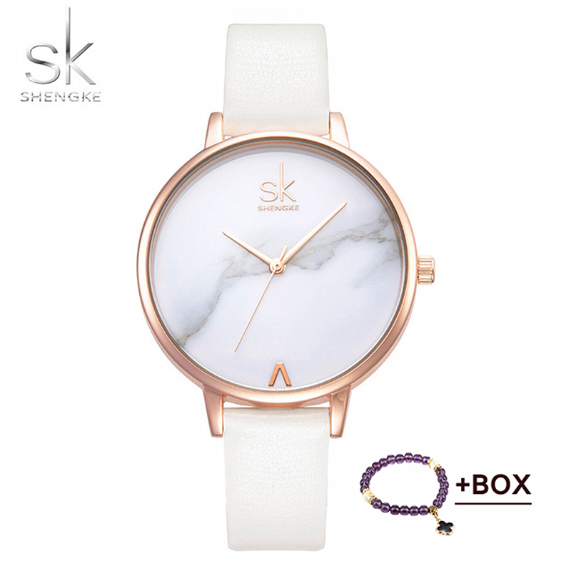 Shengke Marble Watch Women 2018 Top Marka Fashion Ladies Zegarki - Zegarki damskie - Zdjęcie 1