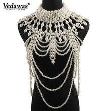 Vedawas, новинка, Ins, богемный жемчуг, кристалл, ювелирное изделие для тела, цепь, сексуальные женские летние пляжные этнические, праздничные ювелирные изделия, подарки xg3008