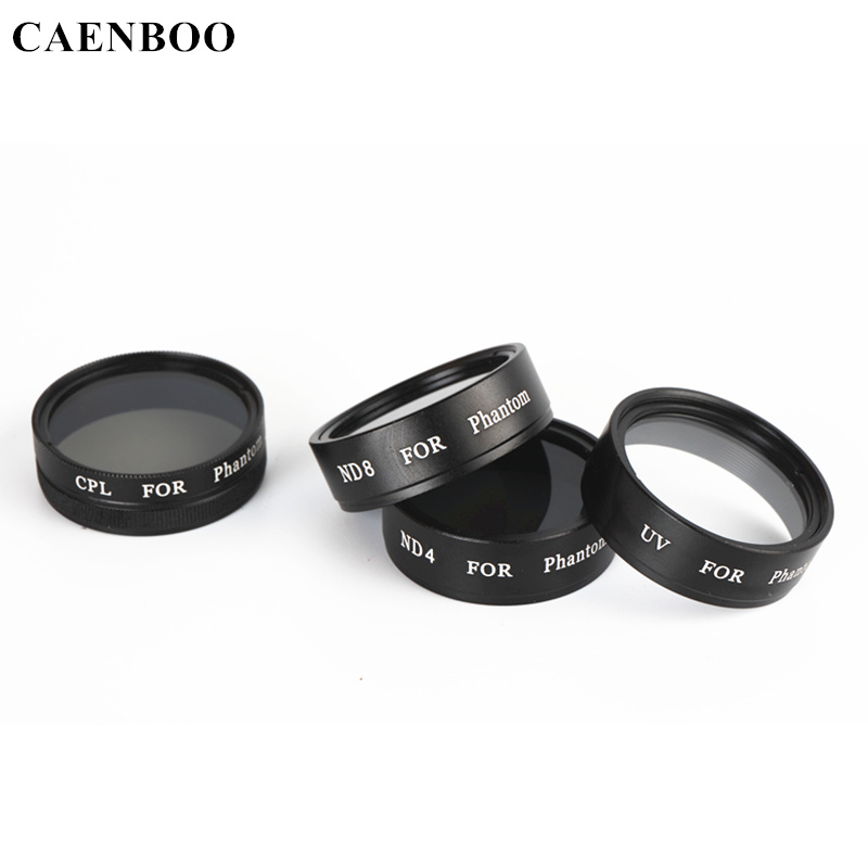CAENBOO Lens Filter For DJI Phantom 4 3 Pro Professional 3 Advanced SE UV ND4 ND8