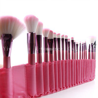 Hot Profession Pink 22 Pcs Set Makeup Brushes 50 Set Foundation Powder Powder Concealer Brushes Set