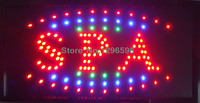 2017 Graphics New Neon Spa shop open sign eye catching Flashing Lights Animated Led Sign 10X19 inch Wholesale