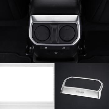 lsrtw2017 titanium black stainless steel car armrest rear vent frame decoration trims for jeep wrangler 2018 2019 JL