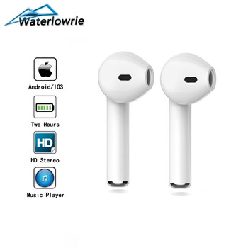WaterLowrie I7 Mini Bluetooth Earphone In-Ear HD Stereo Wireless Headset With MIC For Samsung Huawei Xiaomi & iPhone Accessory