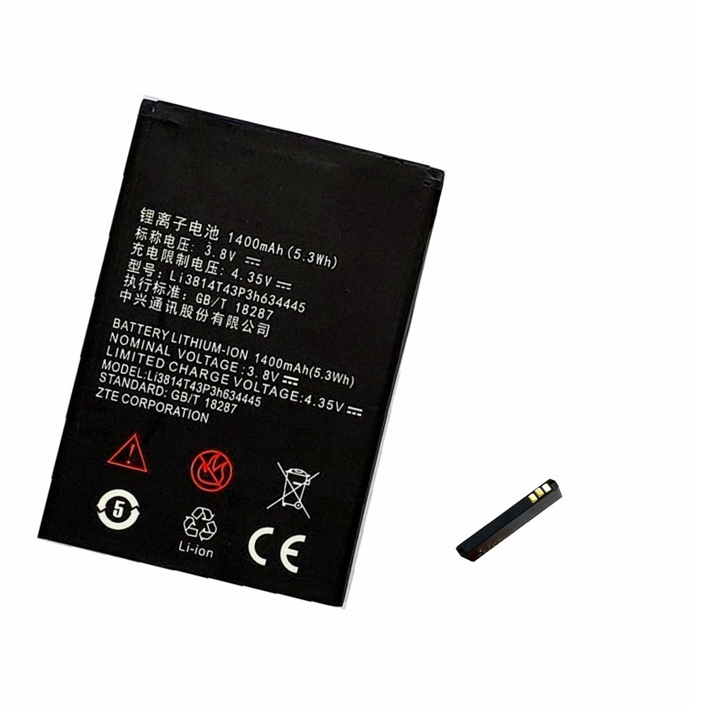 Suqy Phone-Battery Blade L110 Li3814t43p3h634445 A112 Bateria ZTE 1400mah for L110/A112/V815w/.. title=