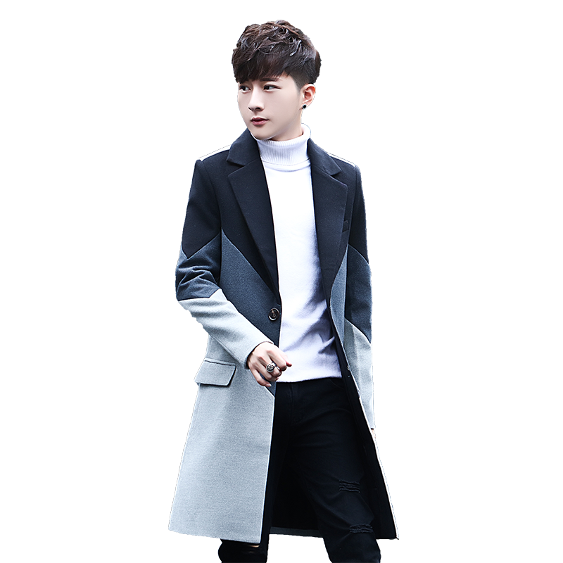2020 Winter Mens Long Coat Business Casual Long Jacket Large Size 5xl Men Trench Overcoat