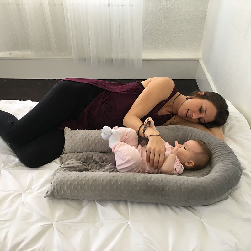 Baby Nest Bed Crib Portable Removable And Washable Crib Travel Bed For Children Infant Kids Cotton Cradle
