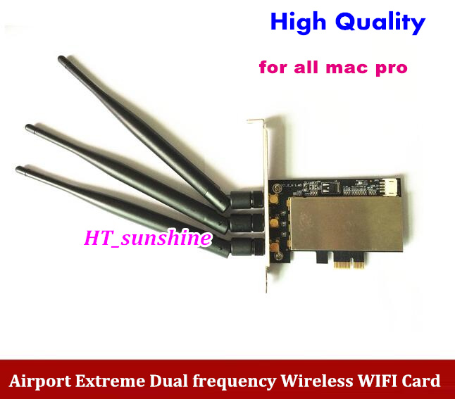 High Quality AR5BXB72 PCI-E 1X Airport Extreme Dual frequency Wireless WIFI Card For All Mac Pro 2006-2012 high quality iss g200 1 pb niagara2250 60 pci sales all kinds of motherboard